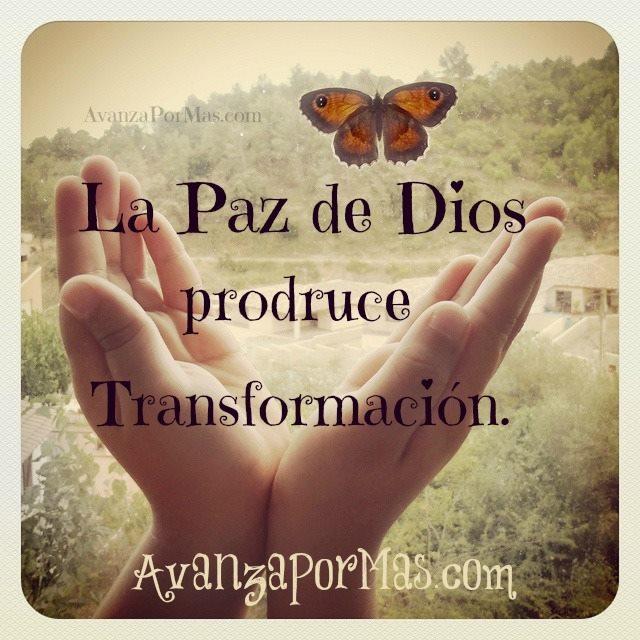 POSTAL La paz de Dios produce transformacin  Imgenes