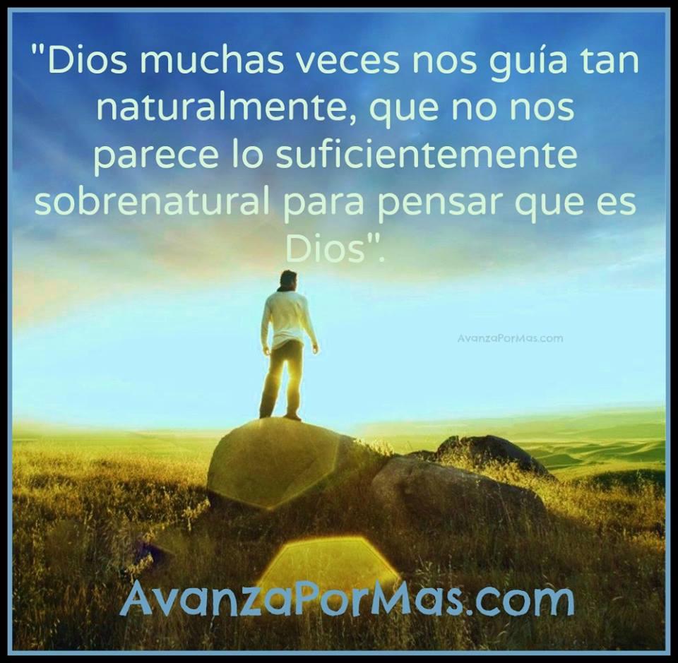 Postal Dios Muchas Veces Nos Guìa Tan Naturalmente