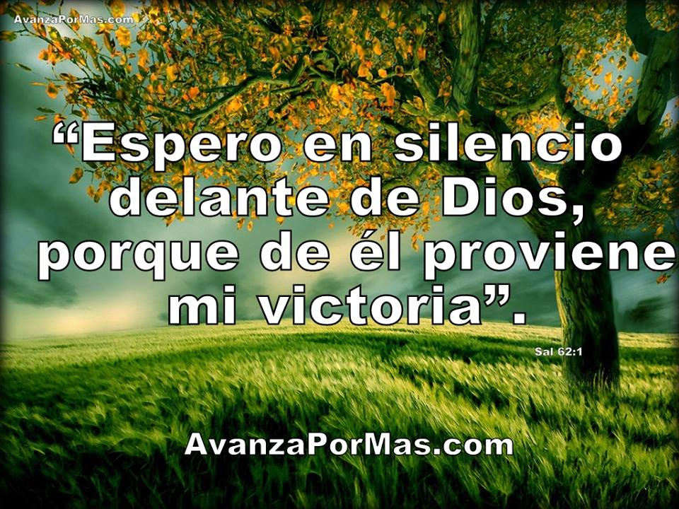 Postal Espero En Silencio Delante De Dios Porque De èl